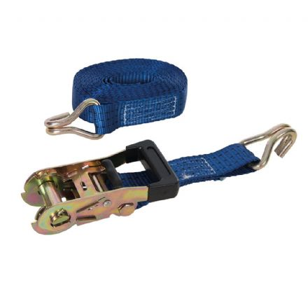 Rubber-Handled Ratchet Tie Down Strap J-Hook 6m x 38mm 1000kg